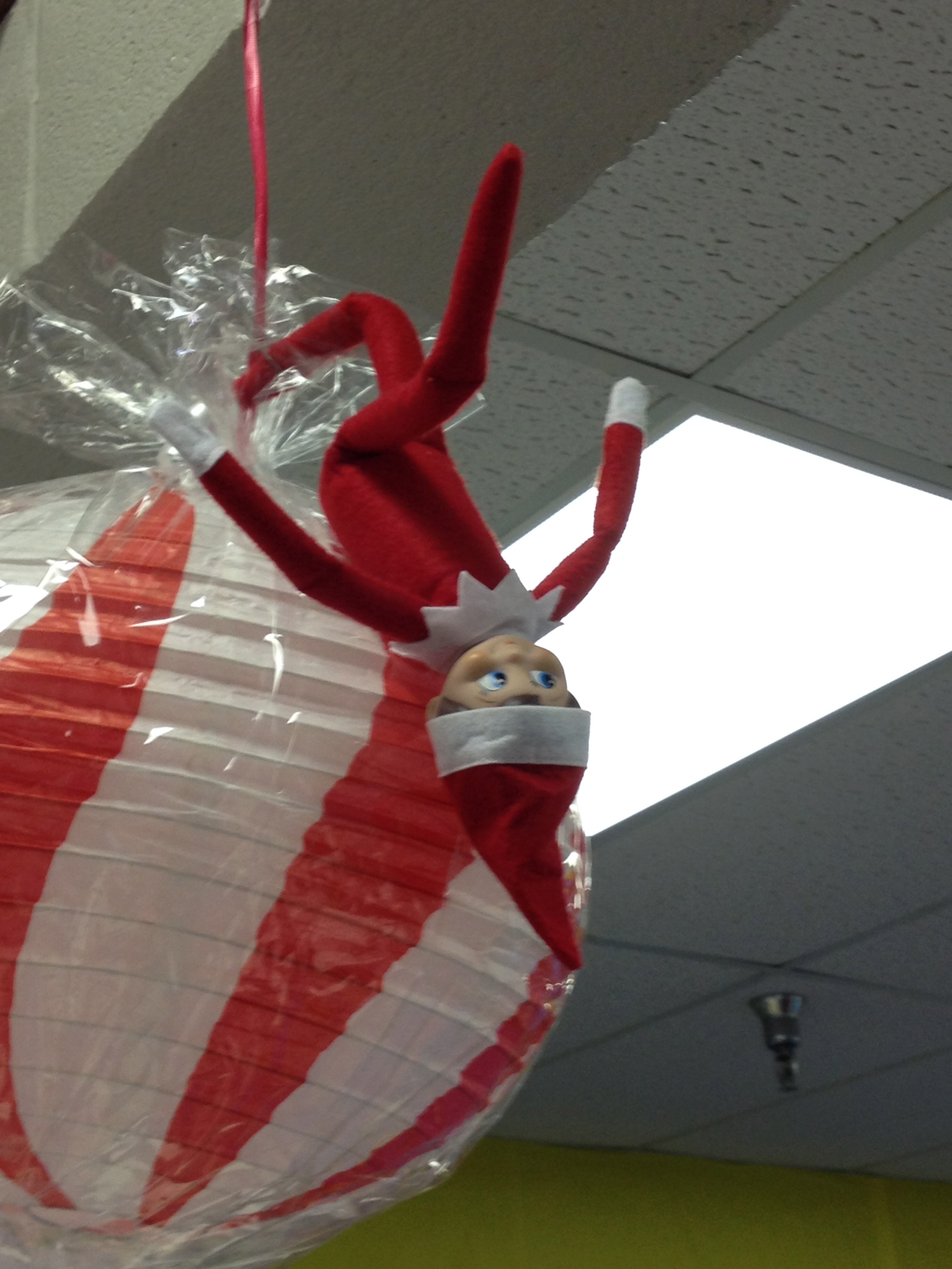 Elf on the Library Shelf–hanging around