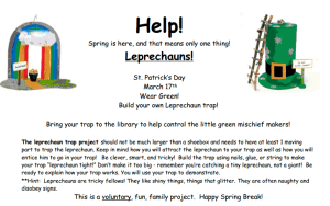 Build Leprechaun Traps