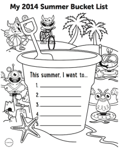 GoNoodle Printable Bucket List