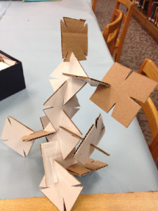 Building with Cardboard Squares