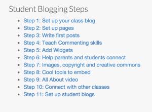 Elementary Student Blogging