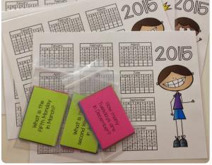 January Library Centers Calendar