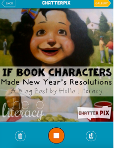 New Year Picture Book Chatterpix