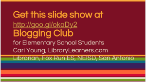 Elementary Blogging Club