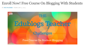 Edublog Teacher Blogging Challenge