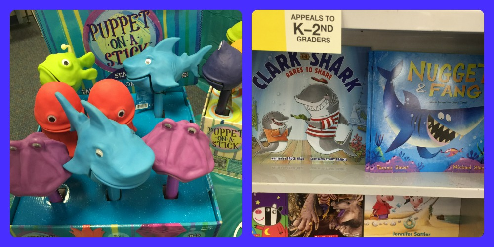 sharks books and puppets
