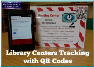 Library Centers Tracking with QR Codes