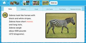 PebbleGo Zebra