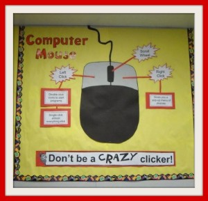 Computer Mouse Bulletin Board