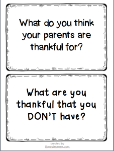 Thanksgiving Library Centers