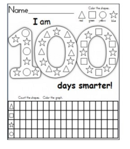 100th Day of School Graph