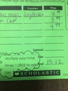 Scholastic Book Fair sales tax