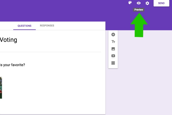 Preview Google Form