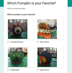 Google Form for pumpkin voting