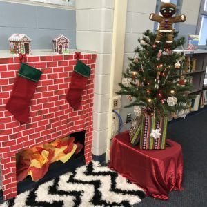 christmas library fireplace - Library Christmas Decorations