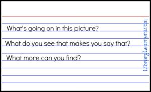 index card questions for picture books