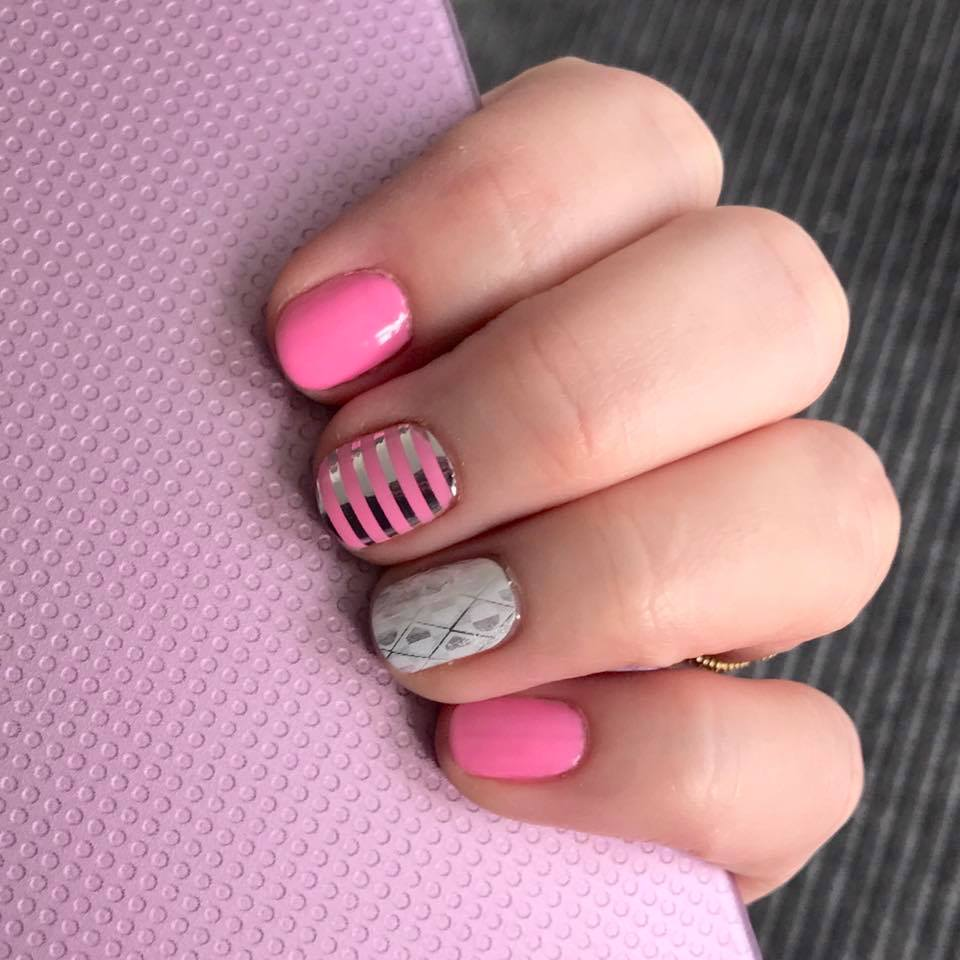 pink Jamberry nail wraps