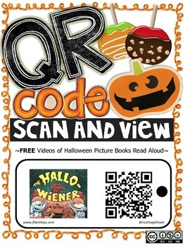 Free Halloween QR Code Listening Center