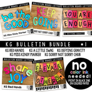KG Fonts Bulletin Board Letters