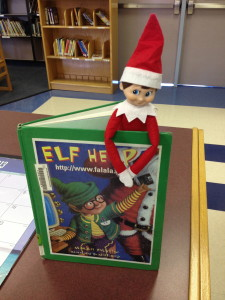 Elf on the shelf brings books